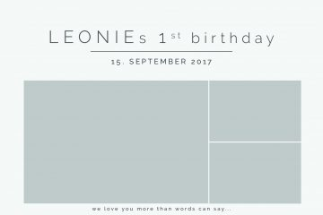 1. Geburtstag, September 2017